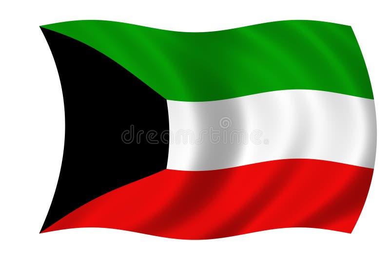 Bandeira de kuwait ilustração royalty free