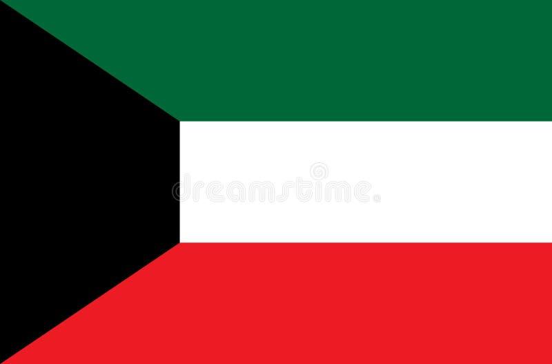 Bandeira de Kuwait vertor e ilustração foto de stock royalty free