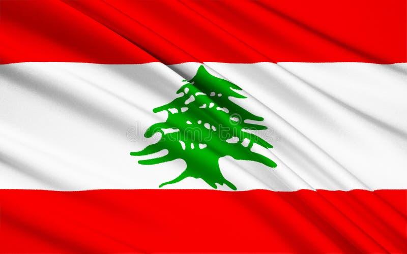 Bandeira de Líbano ilustração do vetor