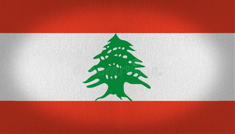 Bandeira de Líbano ilustração royalty free