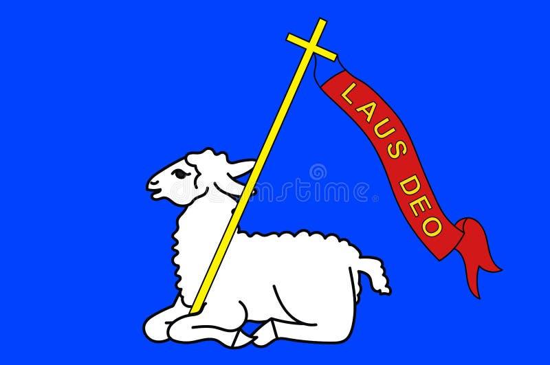 Bandeira de Lannion nas costas-dArmor de Brittany, França ilustração stock
