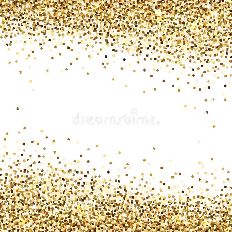 Bandeira de lantejoulas do ouro ilustração stock