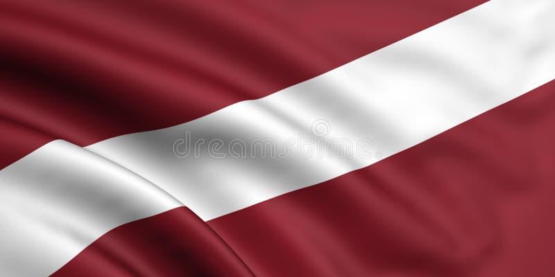 Bandeira de Latvia ilustração stock