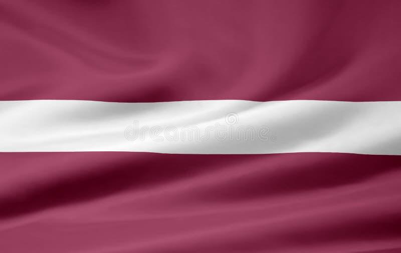 Bandeira de Latvia ilustração royalty free