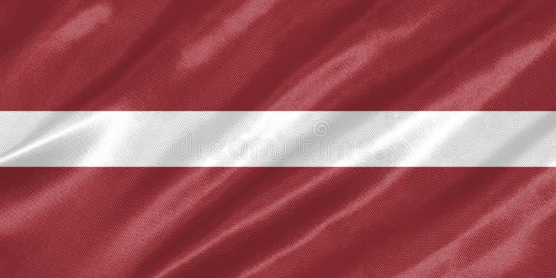 Bandeira de Letónia ilustração do vetor
