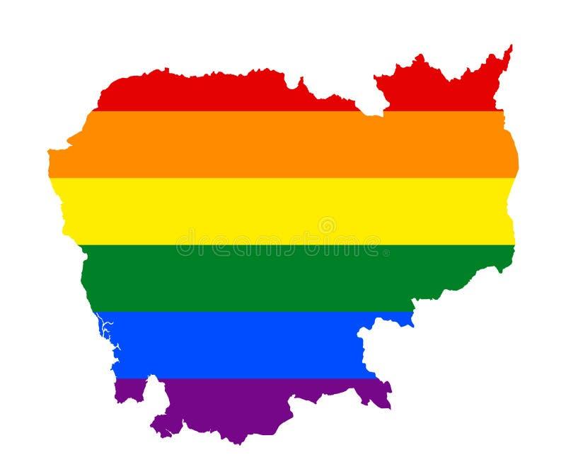 Bandeira de LGBT lésbica, alegre, bissexual, e do transgender do orgulho ilustração stock