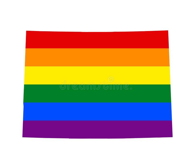 Bandeira de LGBT lésbica, alegre, bissexual, e do transgender do orgulho ilustração do vetor