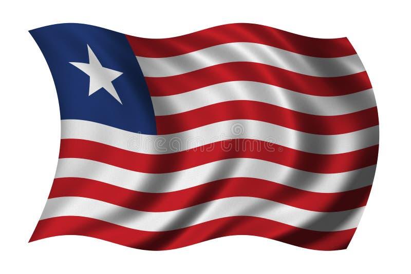 Bandeira de Liberia ilustração do vetor