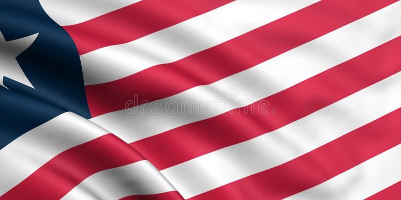 Bandeira de Liberia ilustração royalty free