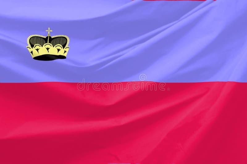 Bandeira de Lichtenstein ilustração stock