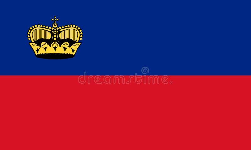 Bandeira de Liechtenstein ilustração do vetor