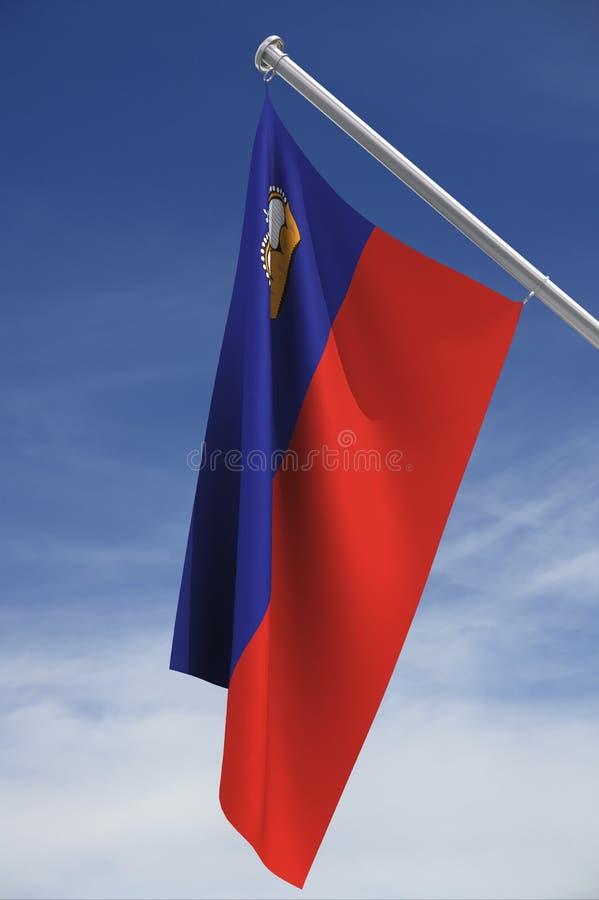 Bandeira de Liechtenstein   ilustração stock