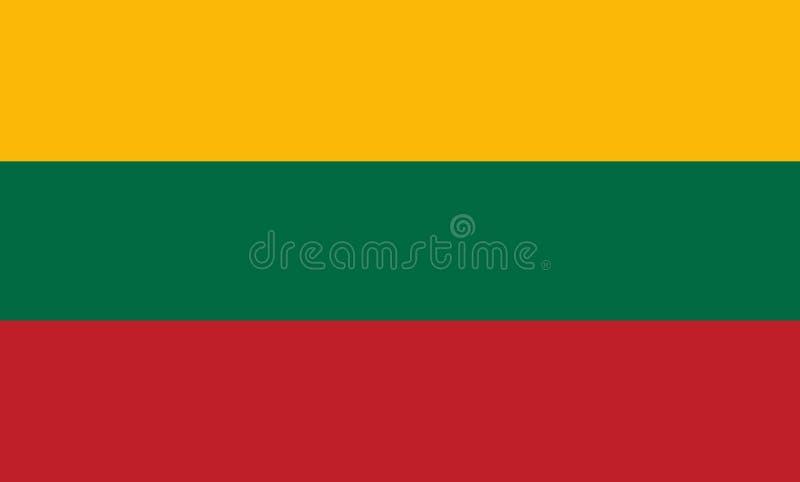 Bandeira de Lithuania ilustração royalty free