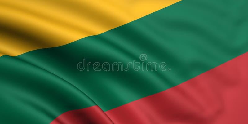 Bandeira de Lithuania ilustração do vetor