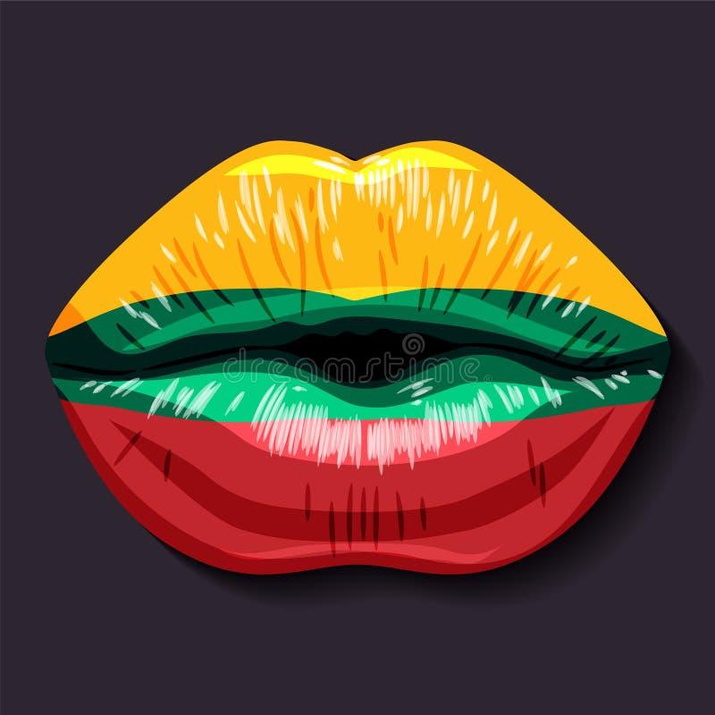 Bandeira de Lithuania ilustração stock
