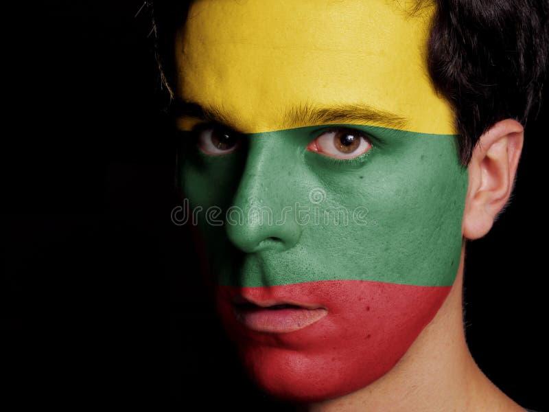 Bandeira de Lituânia fotos de stock royalty free