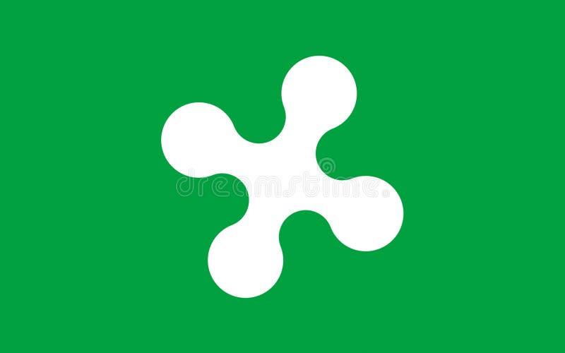 Bandeira de Lombardy, Itália ilustração do vetor