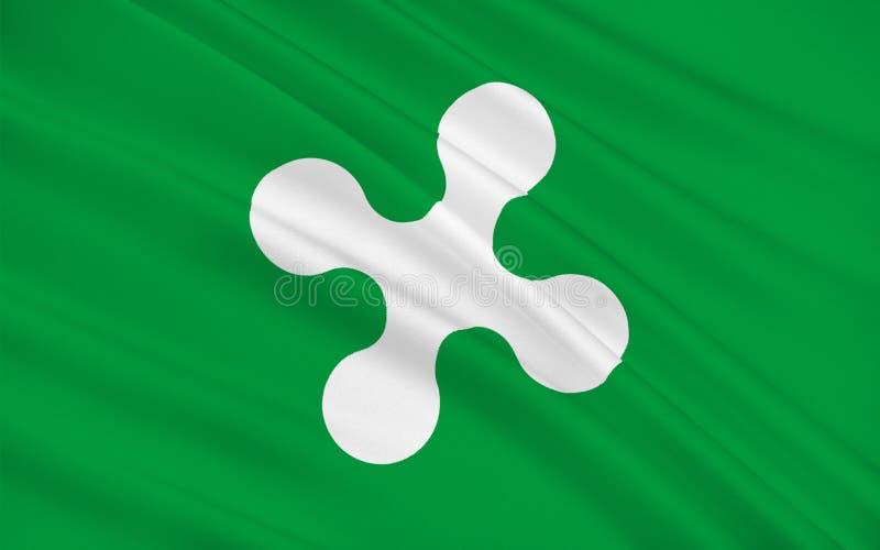 Bandeira de Lombardy, Itália ilustração stock