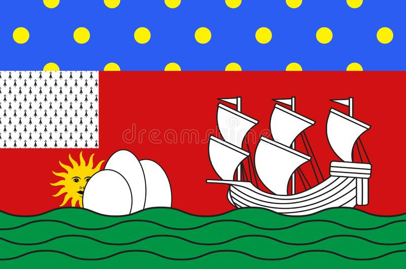 Bandeira de Lorient em Morbihan de Brittany, França ilustração stock