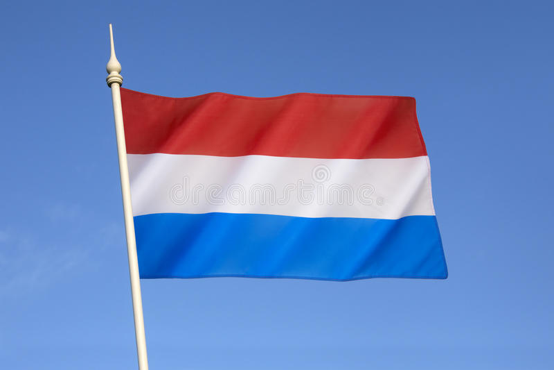Bandeira de Luxembourg fotografia de stock