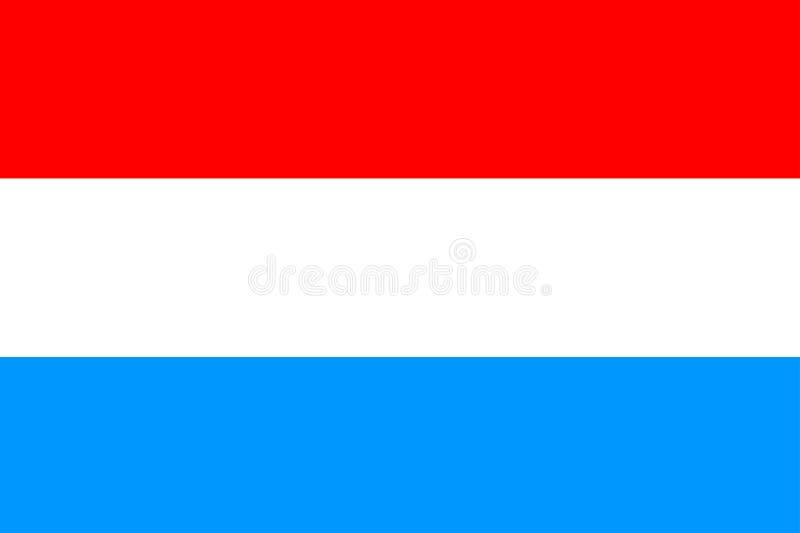 Bandeira de Luxenbourg ilustração royalty free