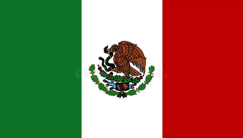 Bandeira de México ilustração royalty free