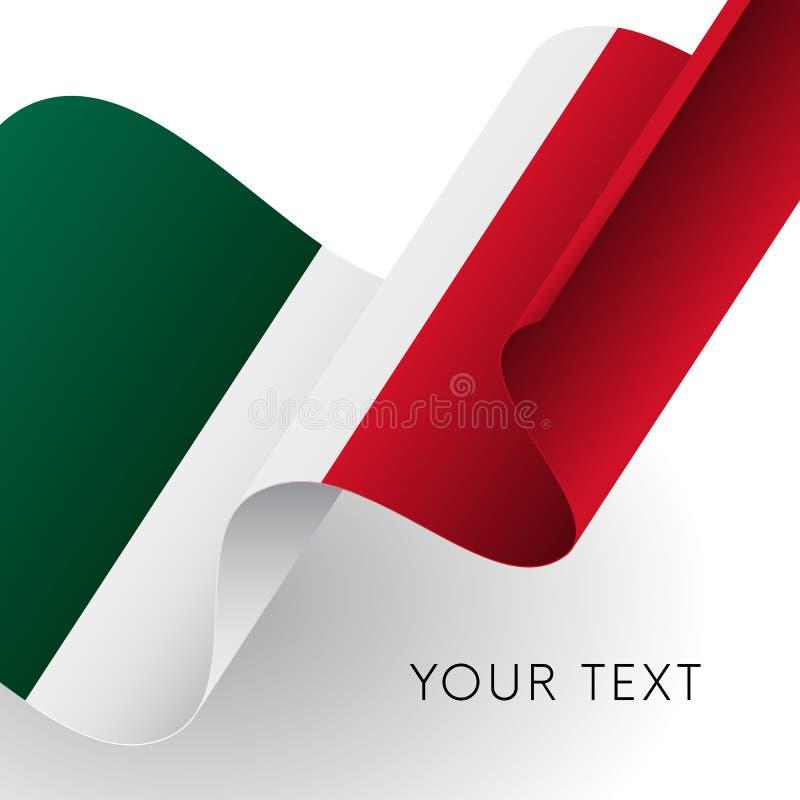 Bandeira de México Projeto patriótico Ilustração do vetor ilustração royalty free