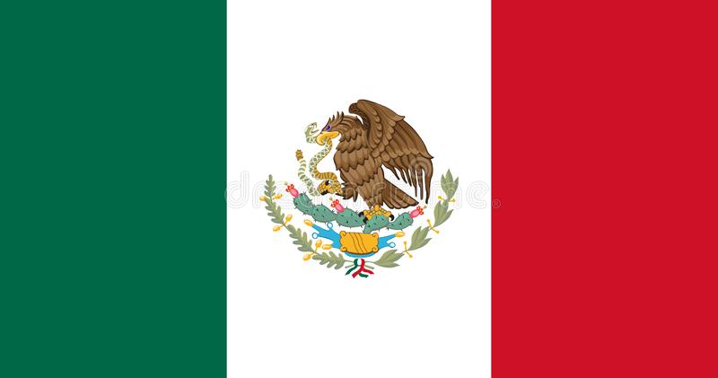 Bandeira de México fotografia de stock