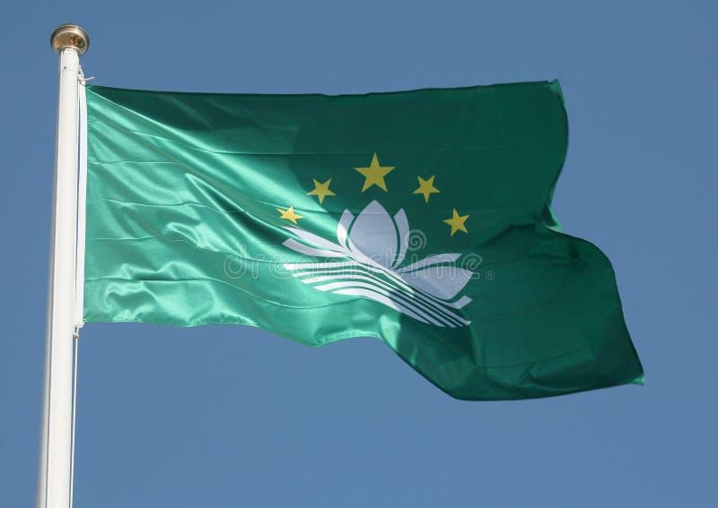 Bandeira de Macao imagem de stock