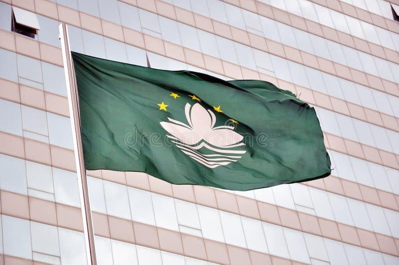 Bandeira de Macao foto de stock royalty free