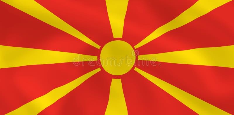Bandeira de Macedónia ilustração stock