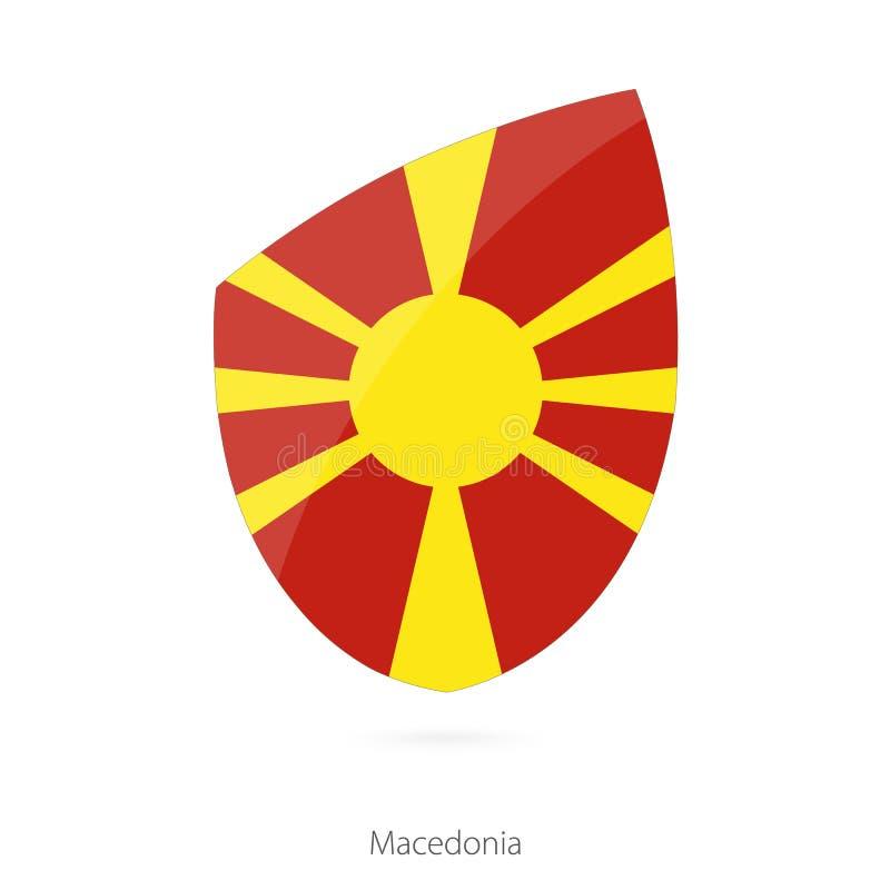 Bandeira de Macedónia Bandeira macedônia do rugby ilustração stock