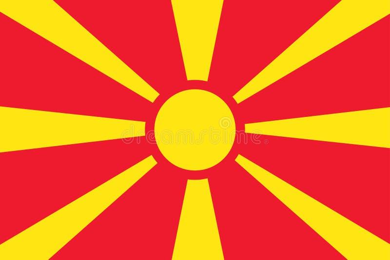 Bandeira de Macedônia Bandeira macedônia ilustração royalty free