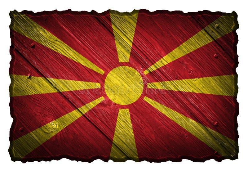 Bandeira de Macedônia ilustração do vetor