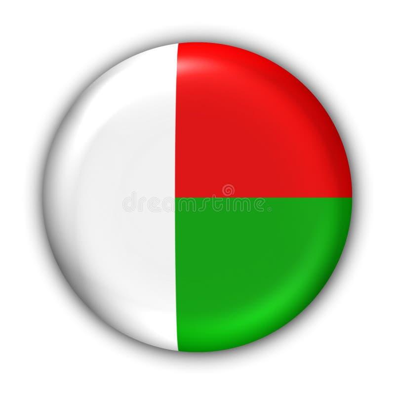 Bandeira de Madagascar ilustração royalty free