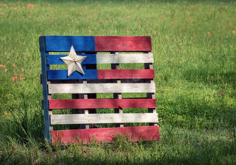 Bandeira de madeira da pálete com estrela de Texas foto de stock royalty free