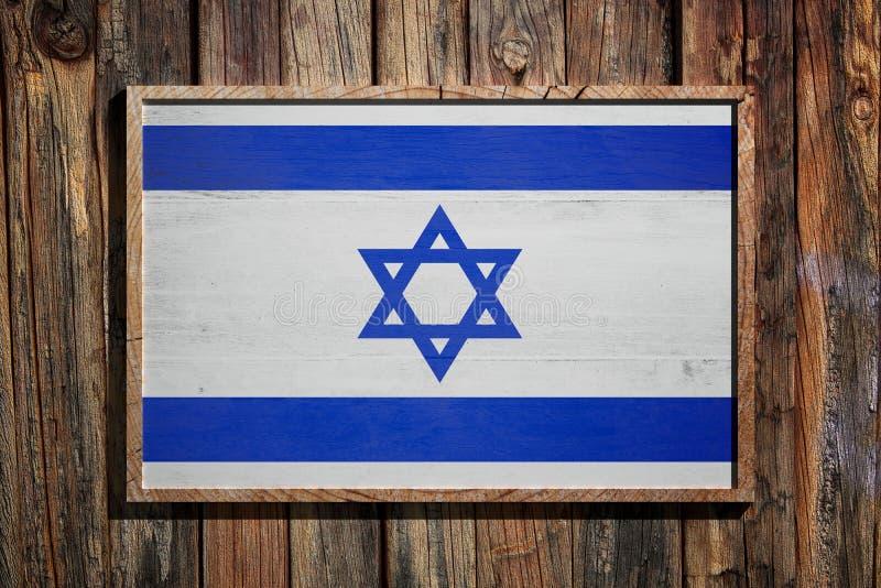 Bandeira de madeira de Israel ilustração stock