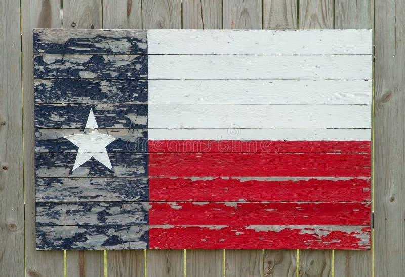 Bandeira de madeira pintada de Texas foto de stock