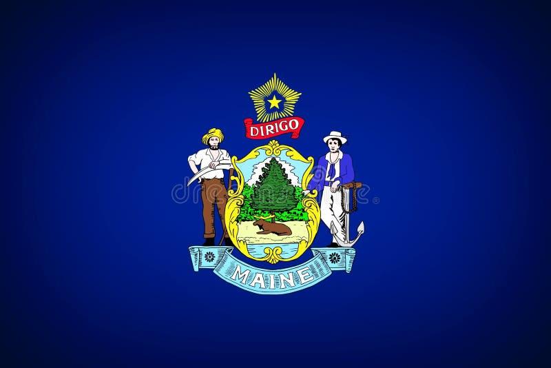 Bandeira de Maine imagens de stock royalty free