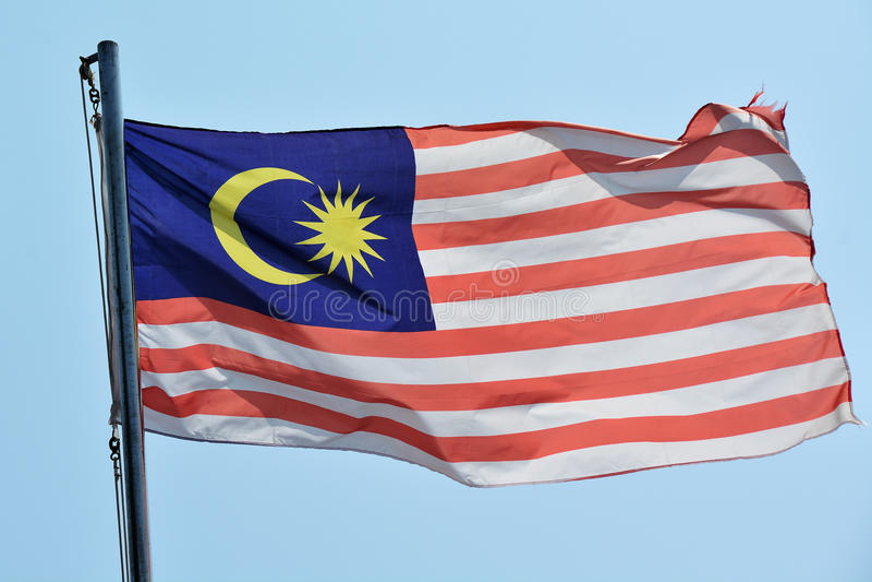 Bandeira de Malásia foto de stock