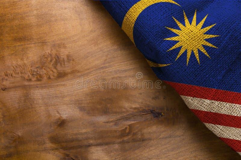Bandeira de Malaysia imagem de stock royalty free
