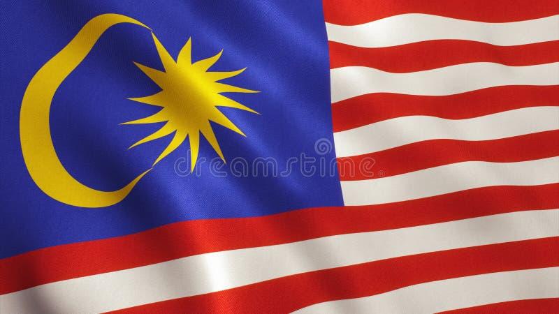 Bandeira de Malaysia imagem de stock