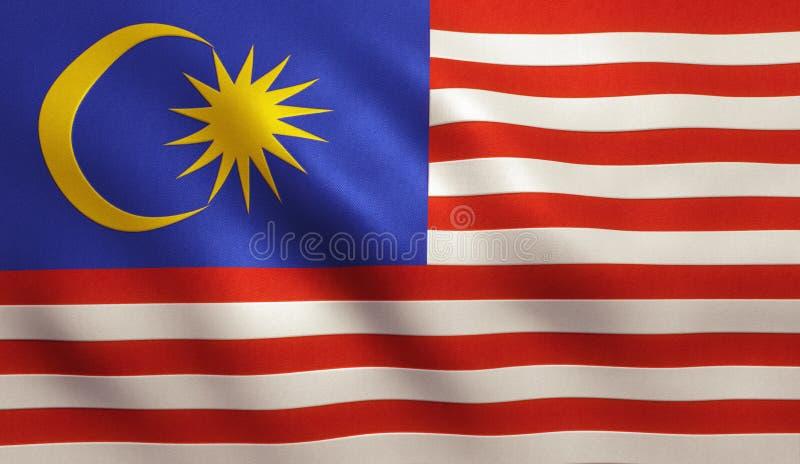 Bandeira de Malaysia imagens de stock