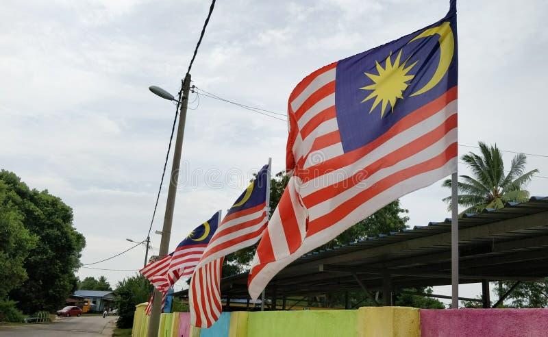 Bandeira de Malaysia foto de stock royalty free