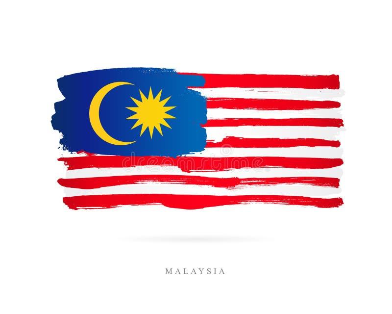 Bandeira de Malaysia Conceito abstrato ilustração do vetor