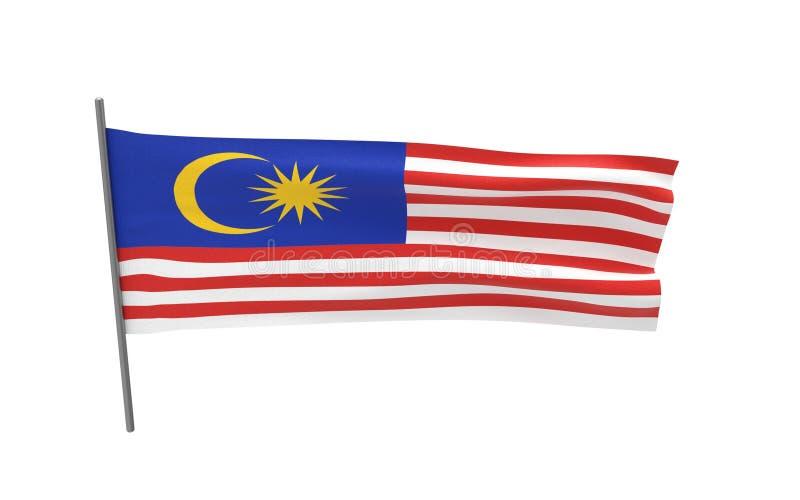 Bandeira de Malaysia ilustração stock