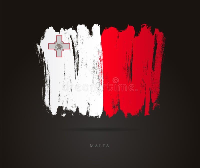 Bandeira de Malta Conceito abstrato ilustração royalty free