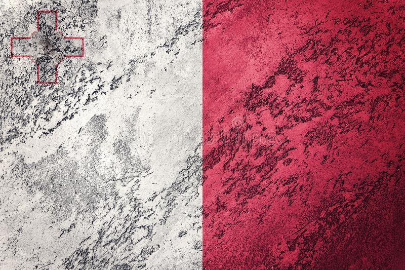 Bandeira de Malta do Grunge Bandeira de Malta com textura do grunge imagem de stock royalty free