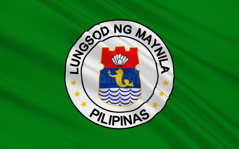 Bandeira de Manila, Filipinas fotografia de stock