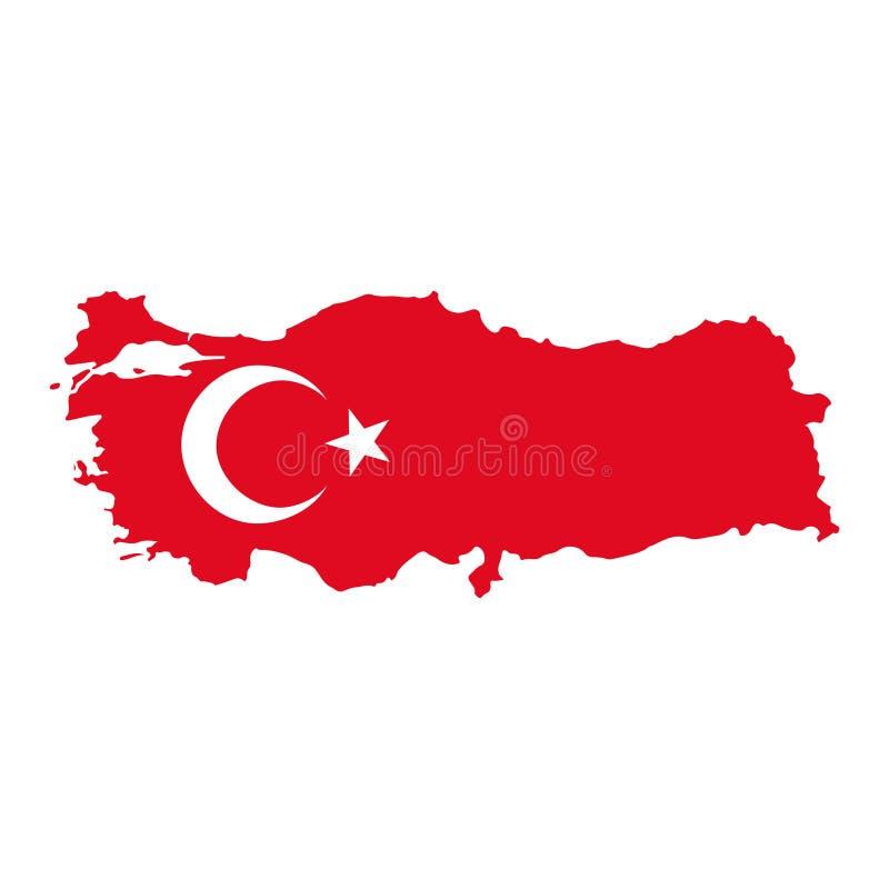Bandeira de mapas de Turquia fotografia de stock